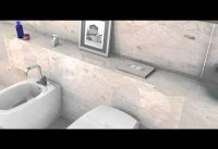 Realization of a 3D animated video of a bathroom for Valsir