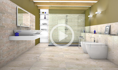 3D rendering bathroom ambient